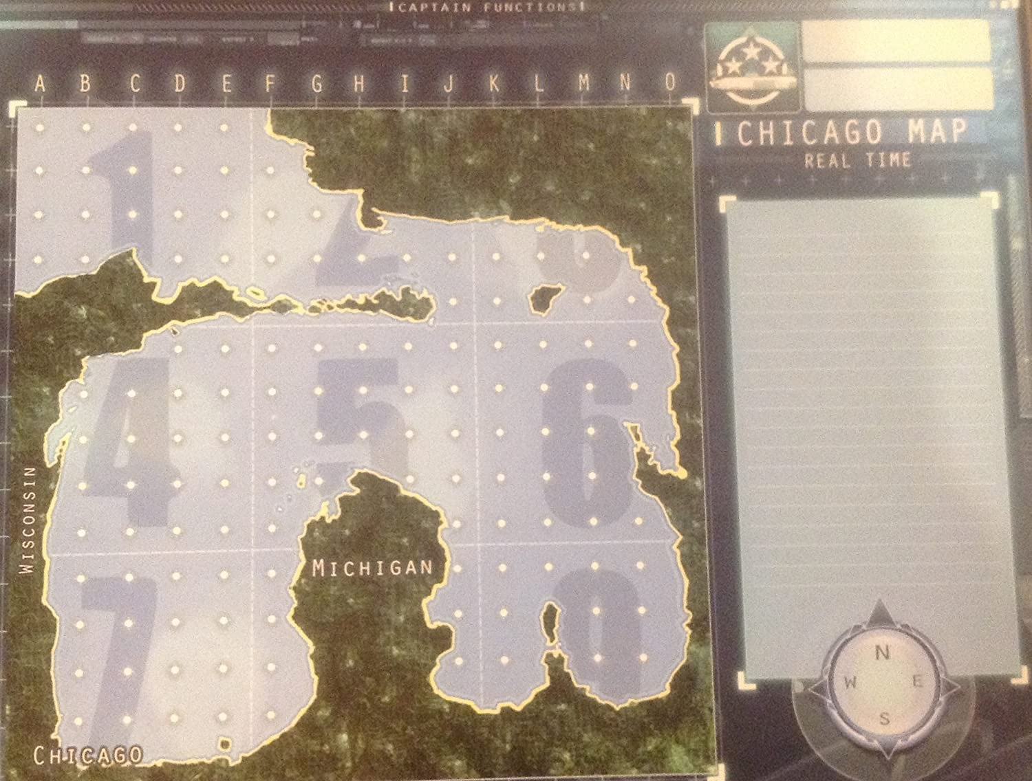 Amazoncom Captain Sonar Board Game Extra Maps Chicago Map - Chicago map new york