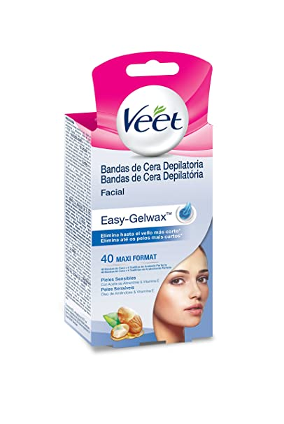 Veet Easy Gelwax Facial Bands Depilatory Wax X40