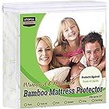 Utopia Bedding Waterproof Bamboo Mattress Protector - Fitted Mattress Cover (Queen)