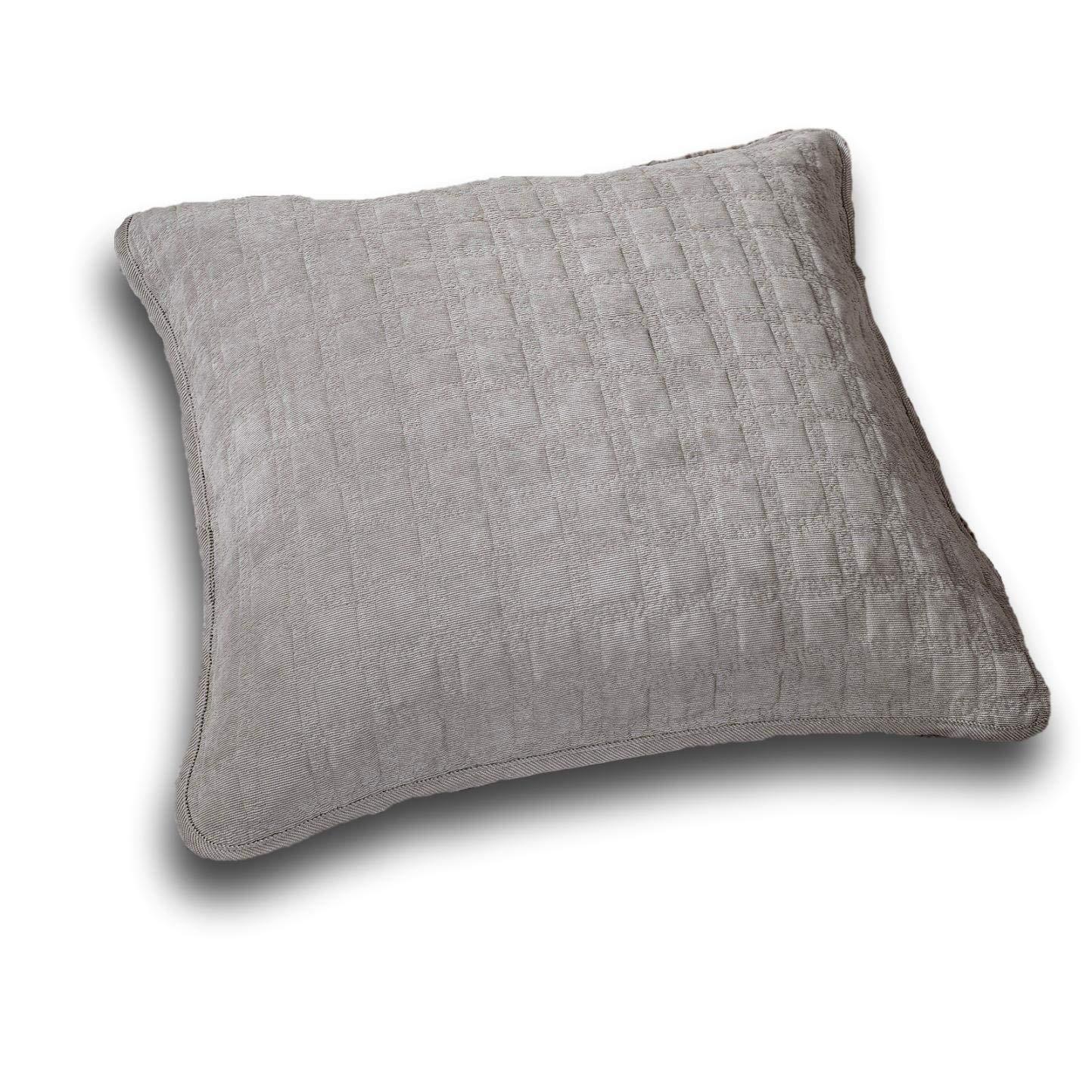 Grey Euro Sham DaDa Bedding Collection Bedspread Set, Queen, Grey