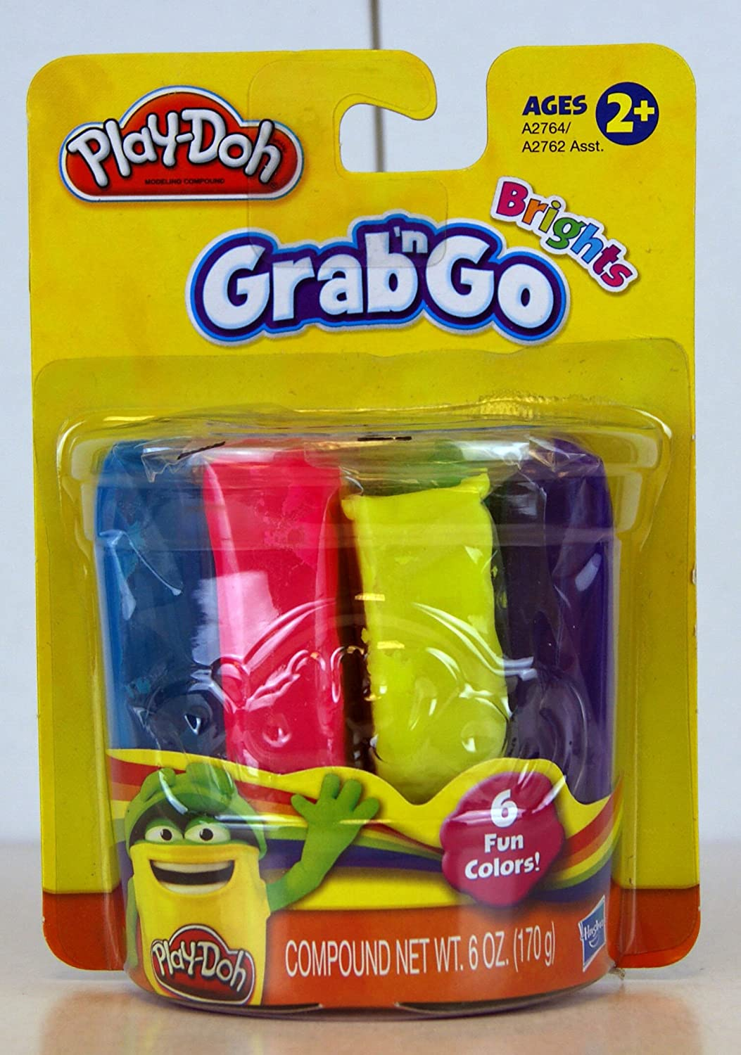 Play Doh Classic Grab 'N Go Brights 6 Fun Colors