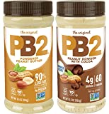 PB2 Powdered Peanut Butter Bundle - Original and Cocoa, 6.5 oz (Pack of 2)