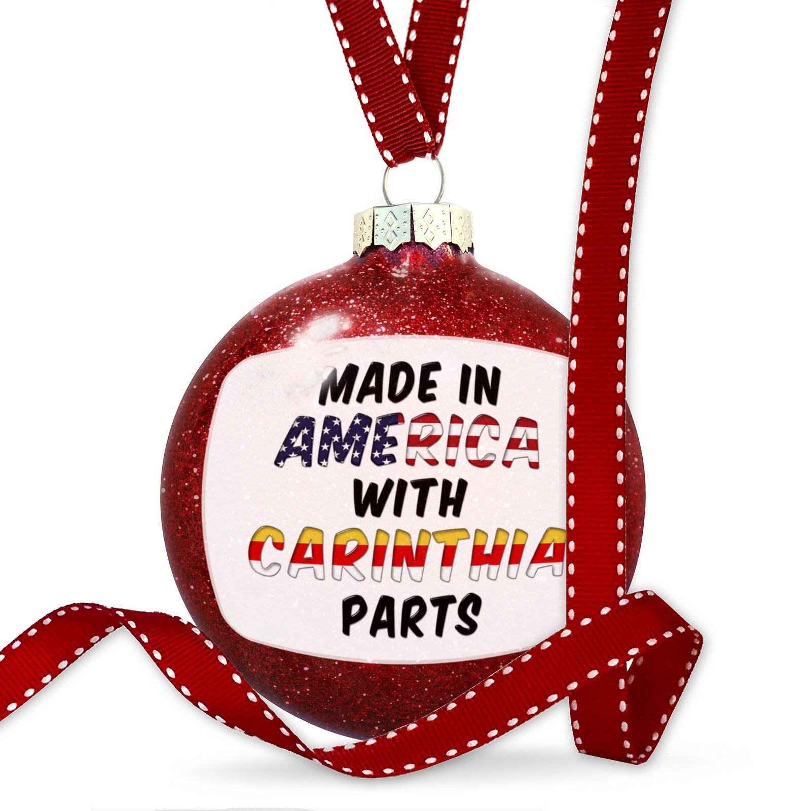 Christmas Decoration Made in America with Parts from Carinthia Ornament