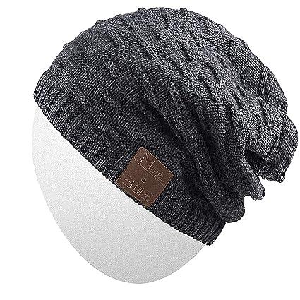 Rotibox Bluetooth Beanie Hat Unisex Winter Cap with Wireless Stereo, Speaker Mic