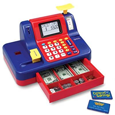 Learning Resources Pretend & Play Teaching Cash Register [Standard Packaging]: Toys & Games