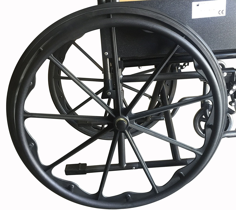 Mobiclinic, Silla de ruedas premium, Plegable, Ruedas traseras grandes extraíbles, Reposapiés y reposabrazos, S220 Sevilla, asiento 40 cm