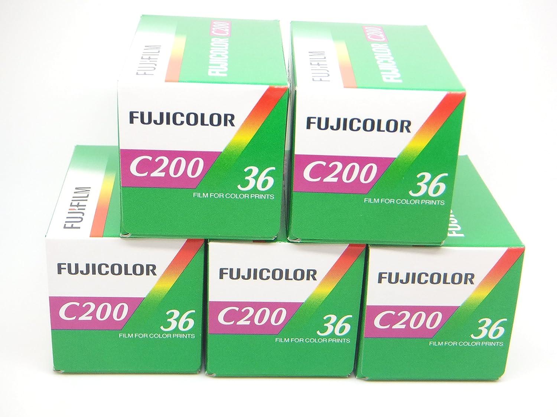 Fuji C200 - Película de color (35 mm, 36exp, 5 unidades)