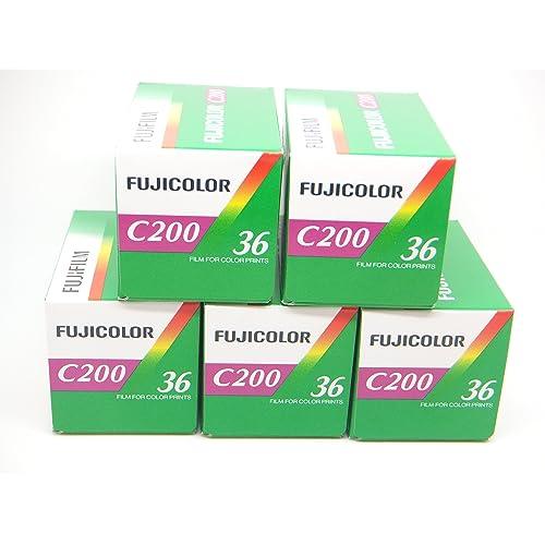 Fuji C200 35mm 36exp Colour Film 5 Pack