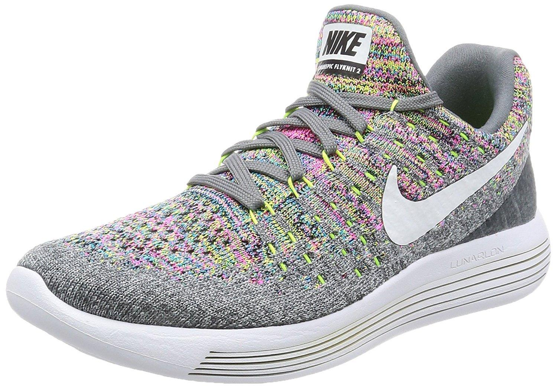 NIKE Lunarepic Low Flyknit 2 Mens Running Shoes B06XRTFVVN Size 12 D(M) US|Cool Grey/White-volt-blue Glow