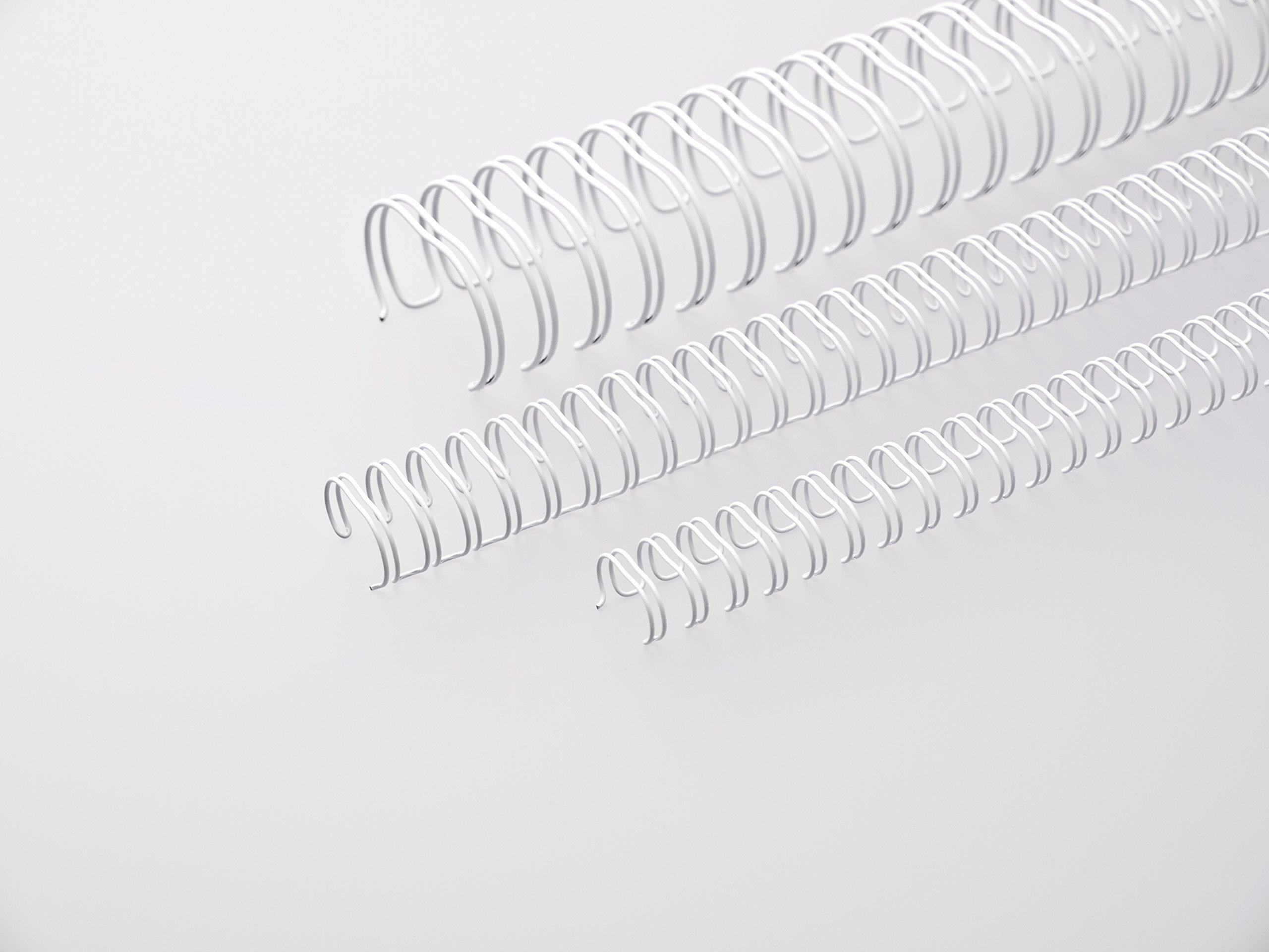 Renz 311270034 12.7 mm Ring Wire Cut Element - White. 3:1 Pitch. A4. 100 Wires per Box.