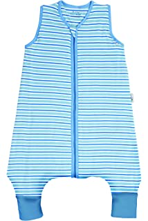 SlumberSafe Summer Sleeping Bag with Feet Early Walker 2.5 Tog, Blue Stripes, 3-