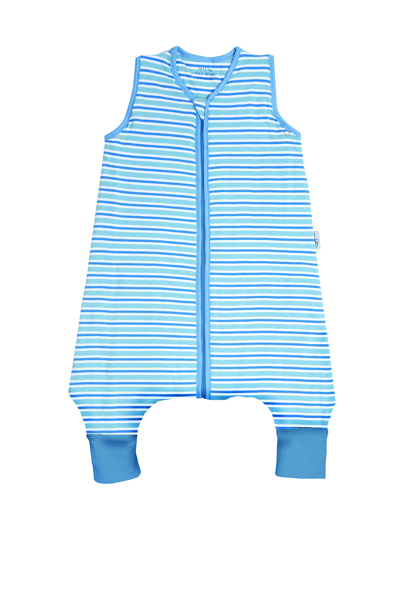 SlumberSafe Summer Sleeping Bag with Feet Early Walker 0.5 Tog, Blue Stripes, 18-24 Months