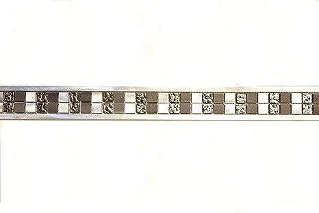 Piastrelle mosaico tessere di mosaico in alluminio con bordo