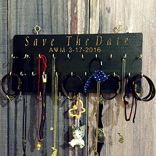 Amazoncom Personalized Rustic Hanging Jewelry Holder Jewelry