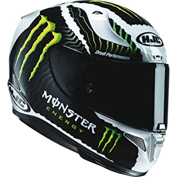 Amazonfr Casque Moto Hjc Monster Rpha 11 Military Blanc Sand