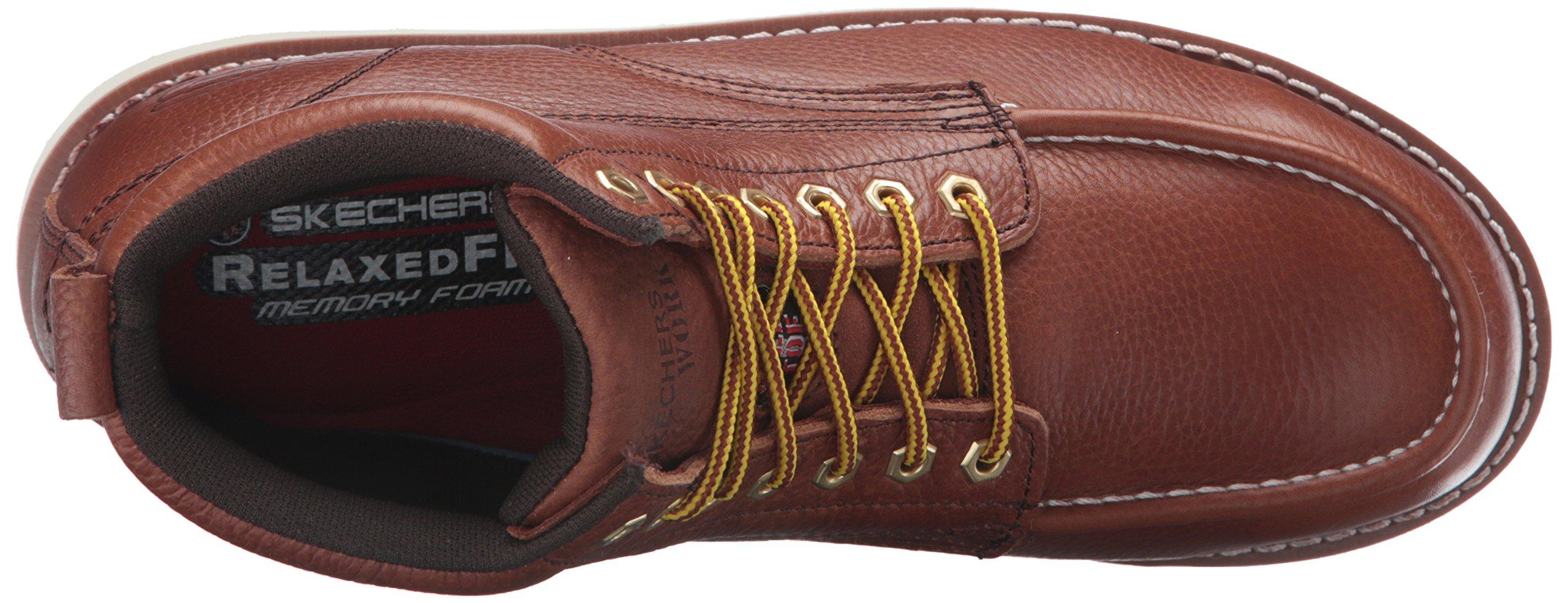 Skechers for Work Men's Pettus Grafford Work Boot,Red Brown,10.5 M US by Skechers (Image #8)