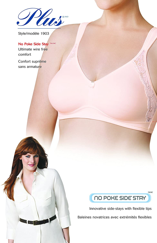 Wonderbra Womens Plus Style No Poke Wire-Free Bra