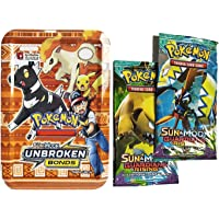 Bestie Toys Present Pokemon Sun and Moon Guardians Rising Cards Game in Metal Box with 2 VIP Cards Free