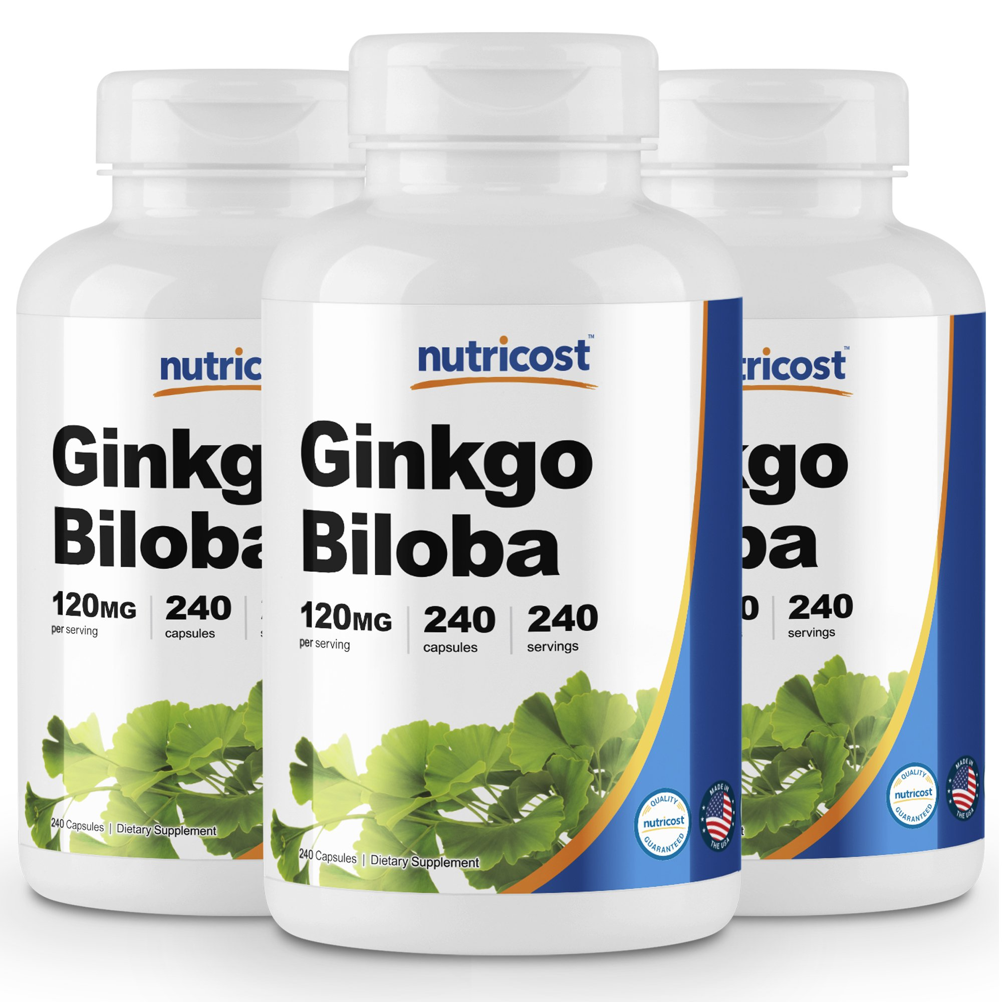 Nutricost Ginkgo Biloba 120mg; 240 Capsules (3 Bottles)