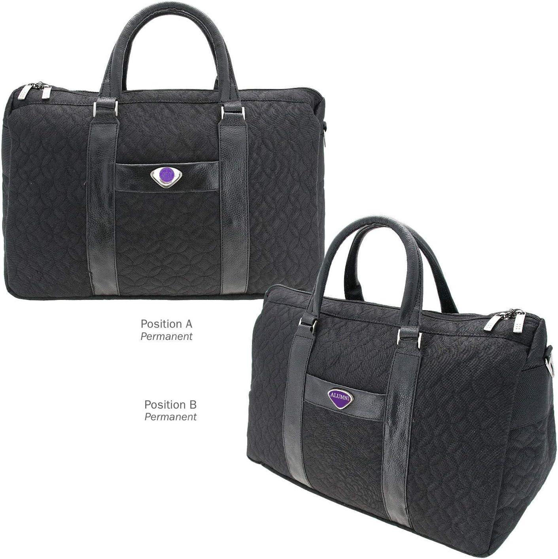 Black One Size AdSpec NCAA NYU Violets Collegiate Womens Duffel BagCollegiate Womens Duffel Bag