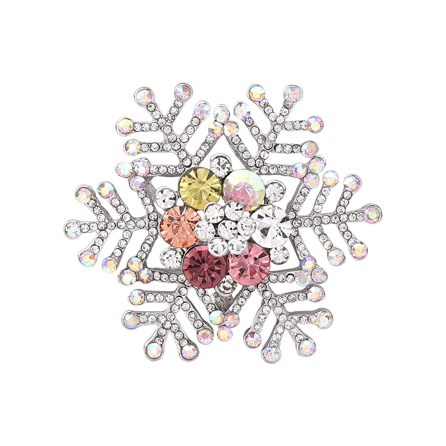 Seni Jewelry Christmas Brooch Pins Crystal Rhinestone Brooch Tree Wreaths Bow Snowflake Wedding Holiday Xmas Gift Jewelry