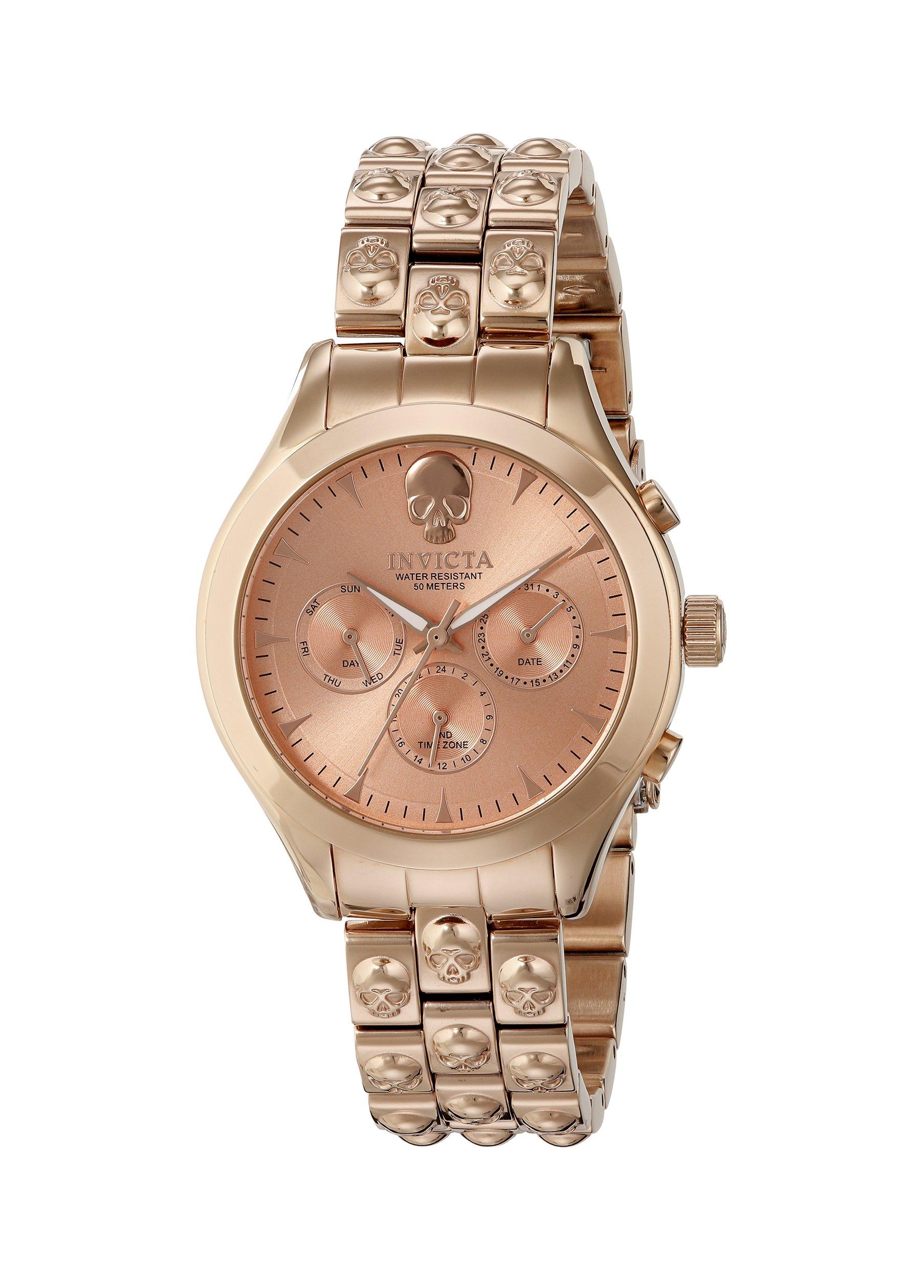 Invicta Women's 16940 Angel Analog Display Swiss Quartz Rose Gold Watch