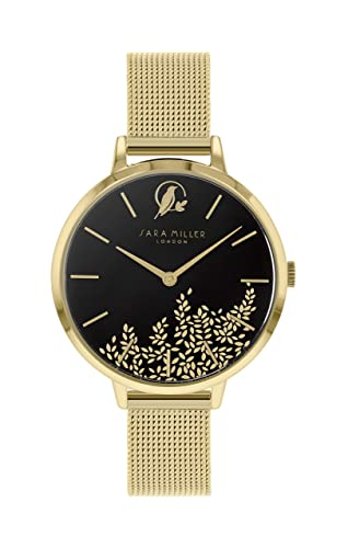Sara Miller Leaf Collection SA4020 - Reloj con Correa de Malla bañada en Oro: Amazon.es: Relojes