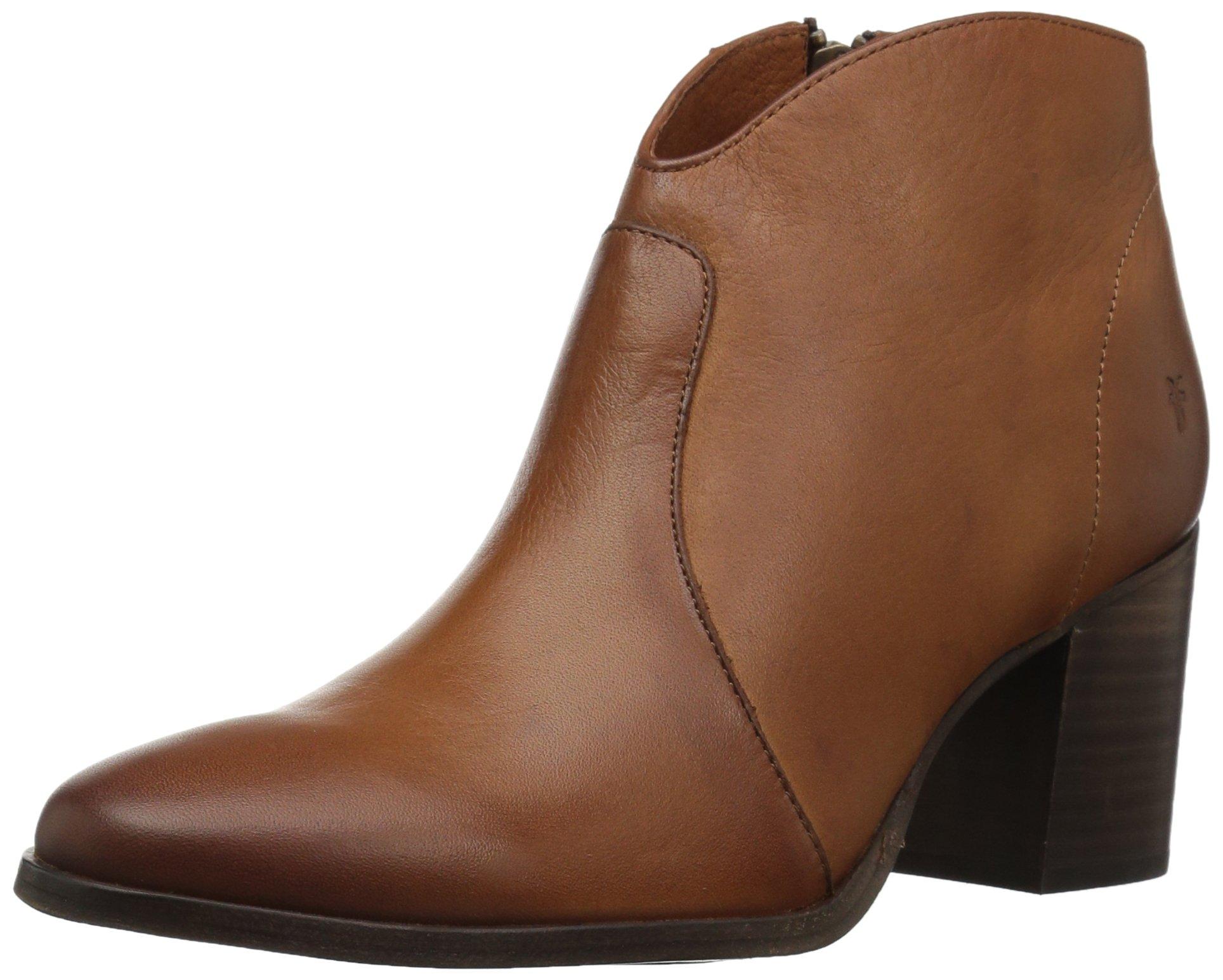 FRYE Women's Nora Zip Short Ankle Boot, Nutmeg, 9 M US