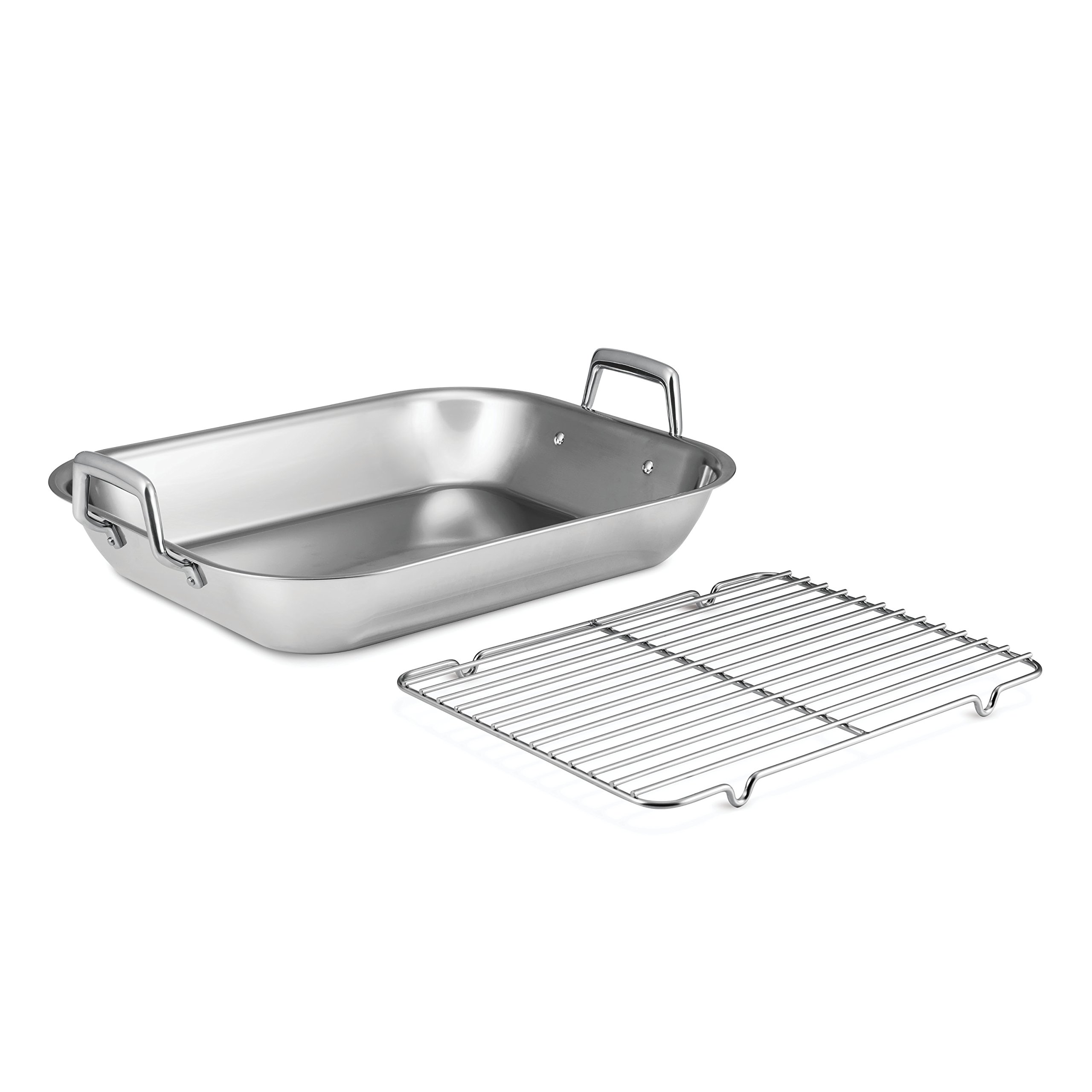 Tramontina 80203/010DS 18.75 inch Roasting Pan 18.75-Inch Stainless Steel