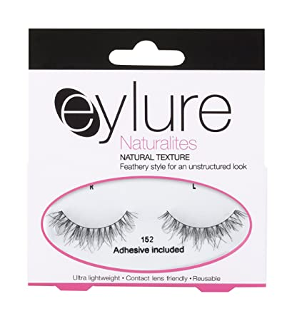 aa24ac6d021 Amazon.com : Eylure Naturalites Natural Texture #152 False Eyelashes, Black  : Fake Eyelashes And Adhesives : Beauty