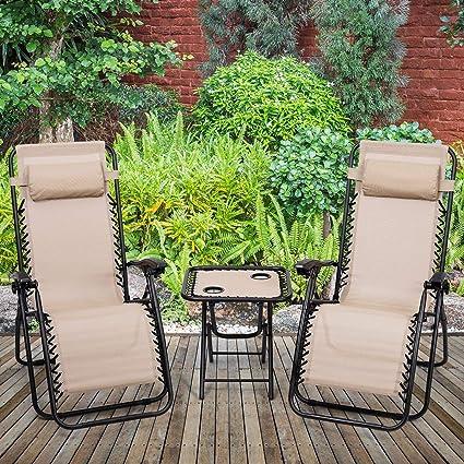 Amazon.com: ReunionG - Juego de 3 sillas de salón plegables ...