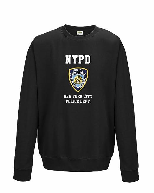 Unisex NYPD neoyorquino Policía inspirado Funny Jersey Negro negro 11 años: Amazon.es: Ropa y accesorios