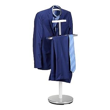 Relaxdays Valet De Chambre Portant à Vêtements Serviteur De Chambre Design  Métal Sur Pied HxlxP: