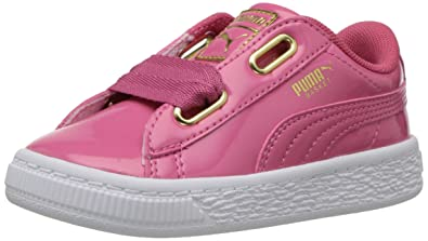 huge discount 82a5d 5e089 PUMA Basket Heart Patent Gold Kids Sneaker
