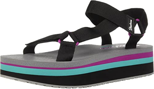 Skechers Womens Whip It-Double Festive-Adjustable Slingback Sandal