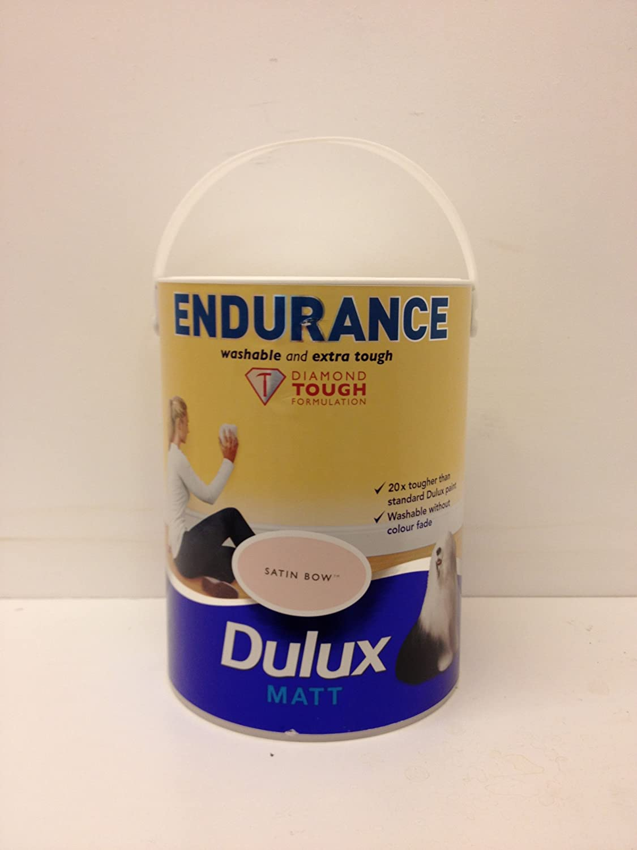 Dulux endurance diamond tough satin bow 5 litres matt emulsion amazon co uk diy tools