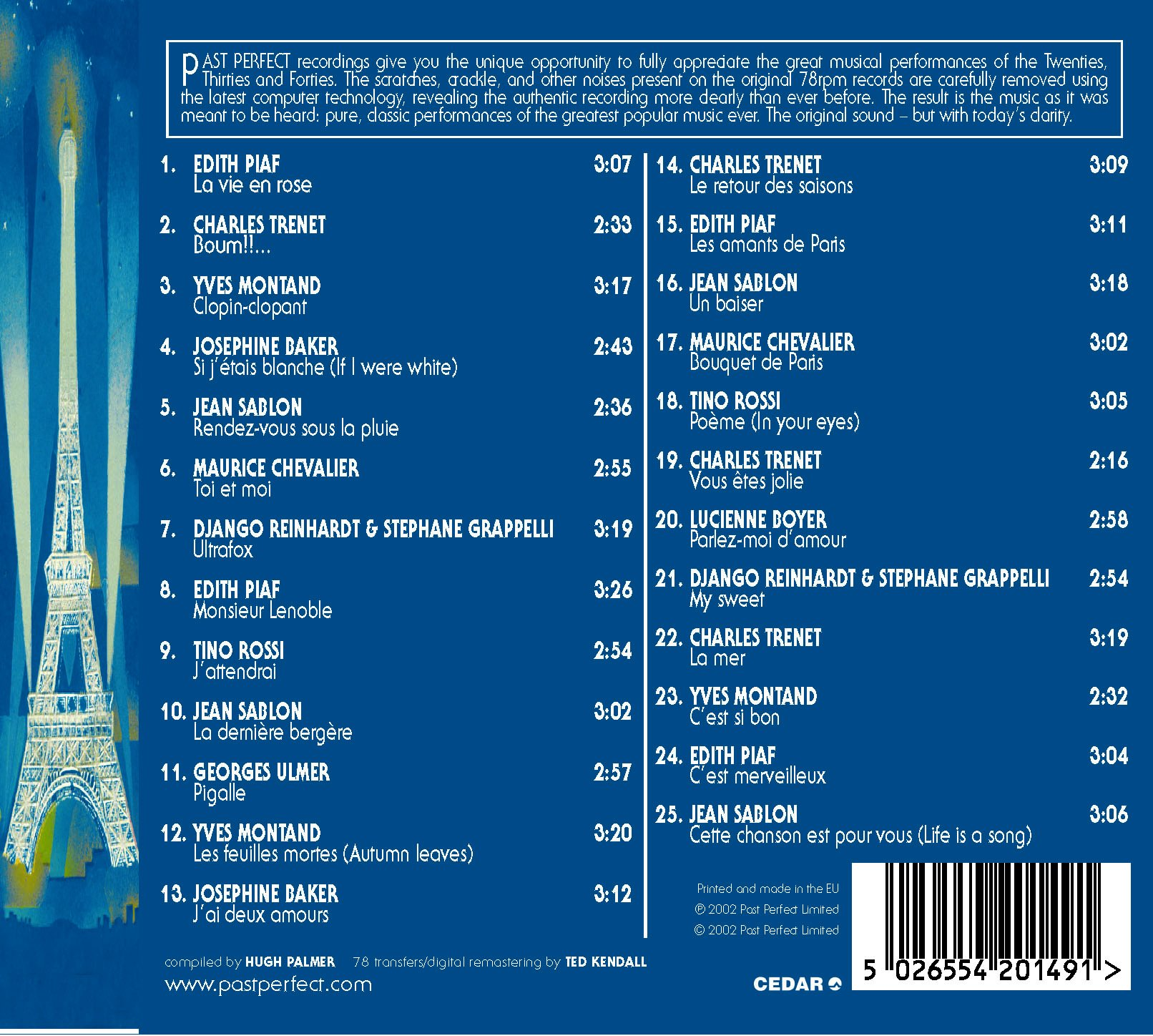 La Vie Parisienne - French Chansons From the 1930s & 40s by Past Perfect
