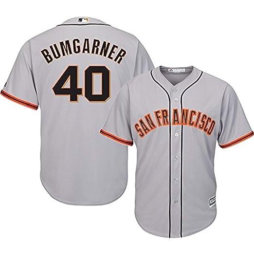 Madison Bumgarner San Francisco Giants MLB Majestic Infants Gray Road Cool  Base Replica Jersey (Infants ba3611f77
