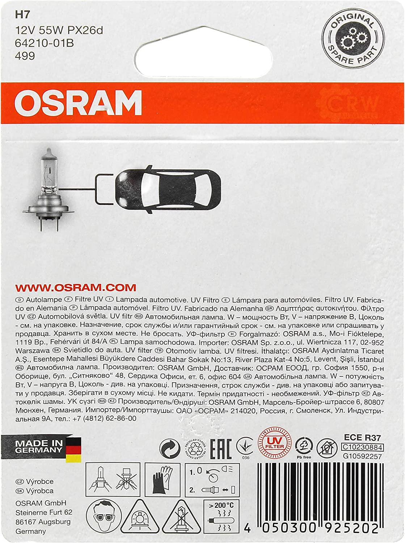 OSRAM Scheinwerfer links A-CLASS W169 09.04-06.12 H7//H7 inkl