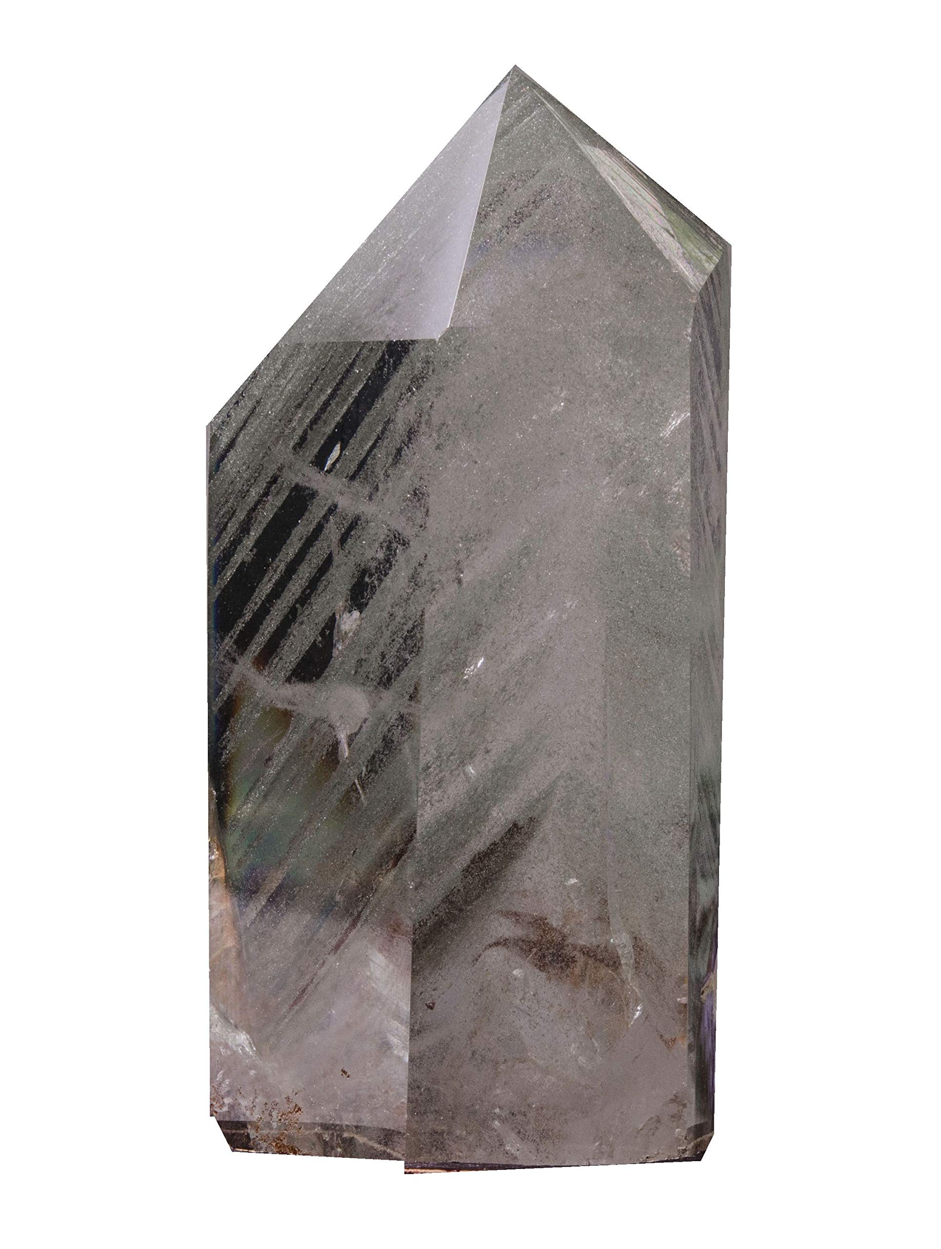 yippee Natural Large Green Phantom Crystal Quartz Tower/Layers Included Garden Crystal Point/Scenic Quartz/Chlorite Inclusion Crystal-
