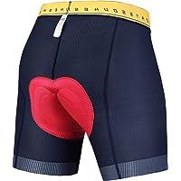Souke Sports Heren Fietsondergoed 4D Gewatteerde Fietsbroek MTB Liner Shorts met Geïntegreerde Antislip Beengrepen