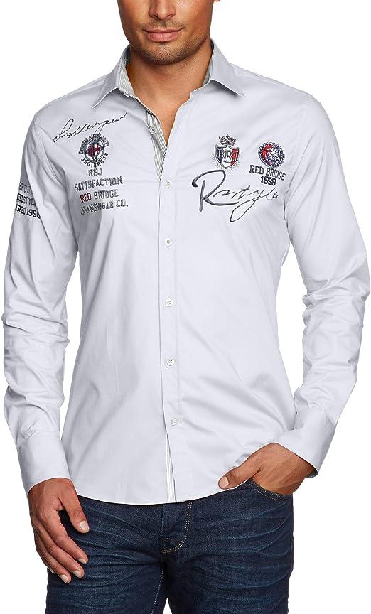 Redbridge R-2130 Camisa Regular Fit de Manga Larga para Hombre: Amazon.es: Ropa y accesorios
