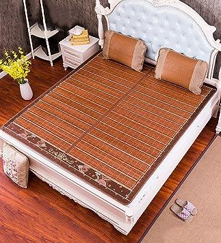 WUFENG Colchón de Cama Plegable colchón Cool Colchones de bambú colchón Tejido de Doble Cara Uso de Verano-Cama Doble (Tamaño : 180 * 200cm): Amazon.es: ...