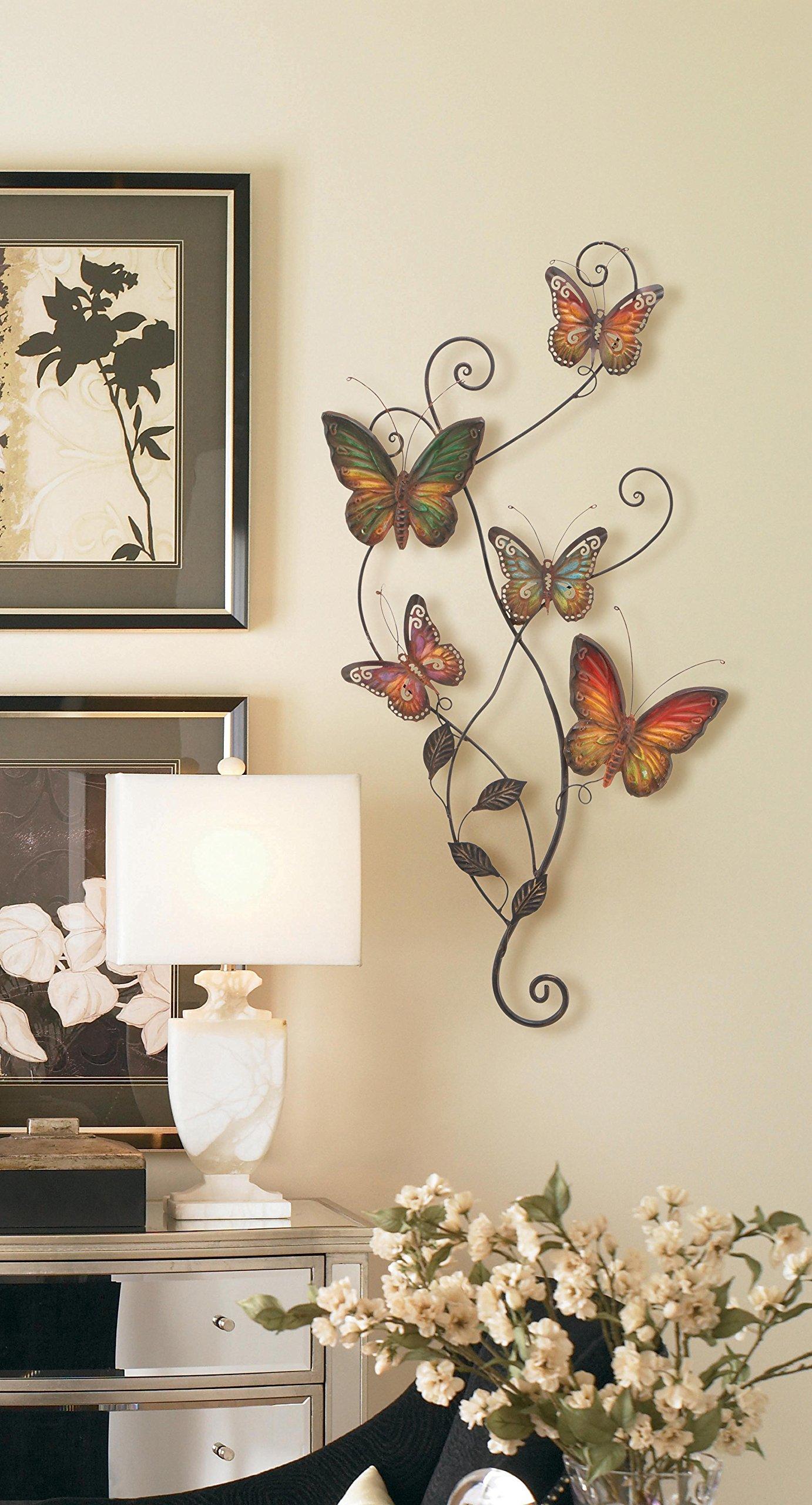 Metal Wall Decor Butterfly Sculpture 29x15