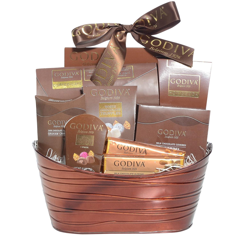 Amazon.com : Godiva Chocolatier Gift Basket - New Assortment For ...