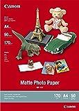 Canon fotopapper MP-101 matt vit – (DIN A4 50 ark) för bläckstråleskrivare – PIXMA-skrivare (170 g/kvm)