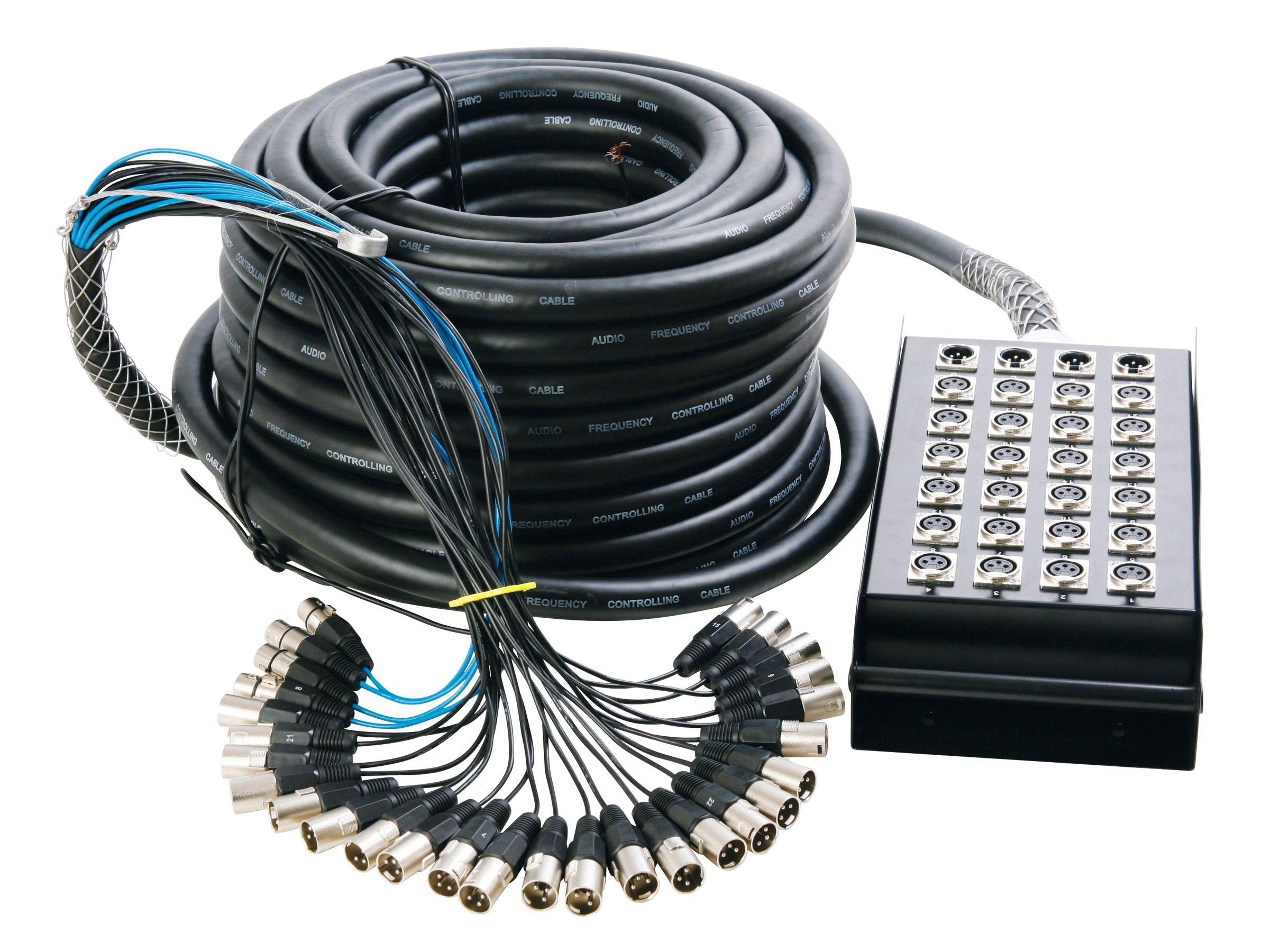 In Line Audio 24 Channel Audio Snake, 50 Feet