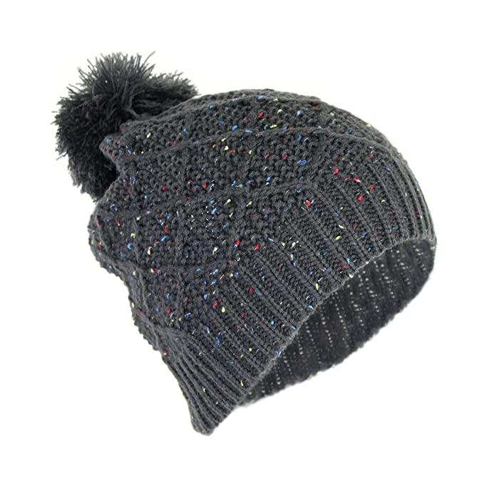 7a74836b Elliott and Oliver Co. Soft Stretch Chunky Cable Knit Speckle Beanie ...