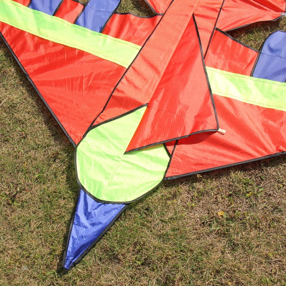 everpert Kid Flying Kite novedad avi/ón forma de cometas al aire libre los ni/ños juguete azul azul
