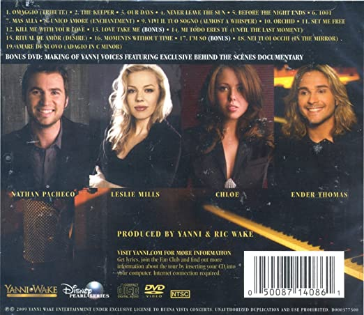 yanni voices dvd